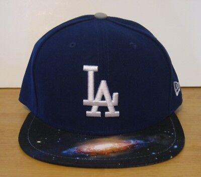 online store 9999f 649d9 Mens New Era 59FIFTY Los Angeles Dodgers Galaxy Fitted 2 Tone Hat Cap Blue  NWT