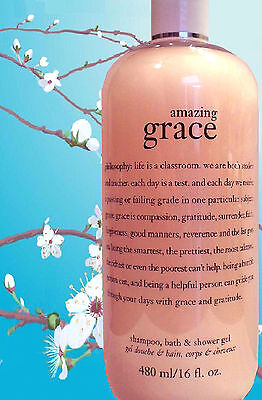 Philosophy AMAZING GRACE SHAMPOO BATH & SHOWER GEL 16 OZ.  SEALED