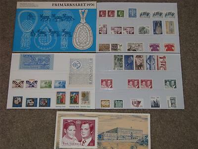 Swedish Stamps 1976 in Special Folder