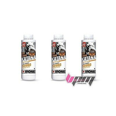 Pack 3 x 1L Huile IPONE FULL POWER KATANA OFF ROAD 10 W 60 SPECIAL KTM & HVA