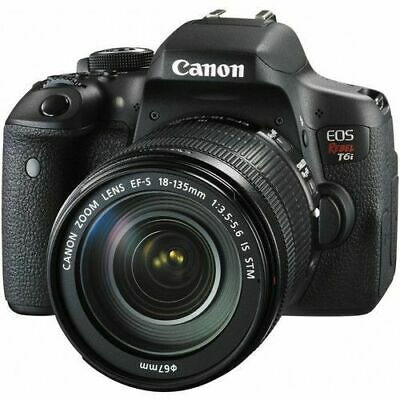 Canon EOS Rebel T6i 24.2MP Digital SLR Camera w/18-135mm f/3.5-5.6 IS STM Lens