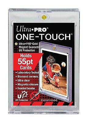 25 ULTRA PRO One Touch Magnetic Holders 55pt UV Gold Magnet 55 point