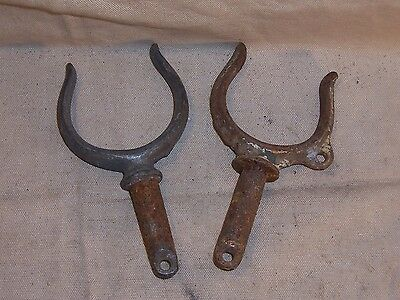 Vintage Antique Galvanized Oar Locks Wooden Boat Row Boat Replacement Part Old