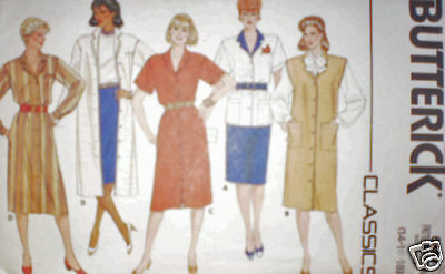 6684 Vintage Butterick Misses Sewing Pattern 1980's Dress Jumper Top Skirt