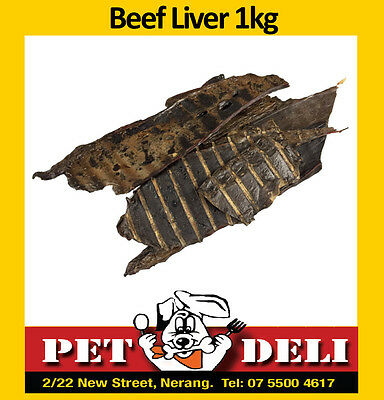 Beef Liver 1kg - Bulk Dog Treats Dehydrated - Free Fastway Courier