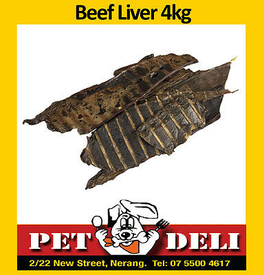 Beef Liver 4kg - Bulk Dog Treats Dehydrated - Free Fastway Courier