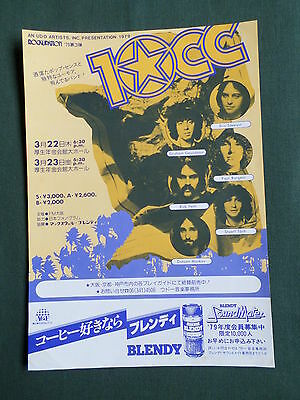 Japanese -  Promo  Flyer -For 10Cc -  1979