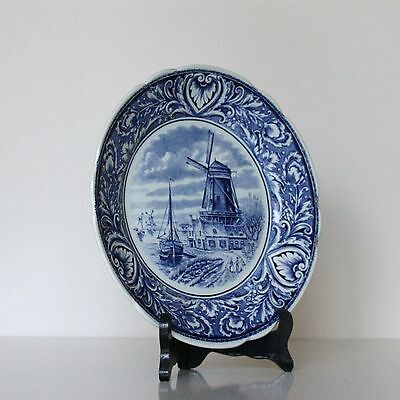 Delft Blue Petrus Regout Marked Plates Blue Design Made in Holland