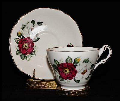Jackson & Gosling GROSVENOR Red & White Flowers Coffee or Tea Cup & Saucer Set