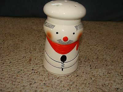 """Essentials Japan Cheese Shaker Man Red Neck Scarf Black Spoon 6"""" Tall"""