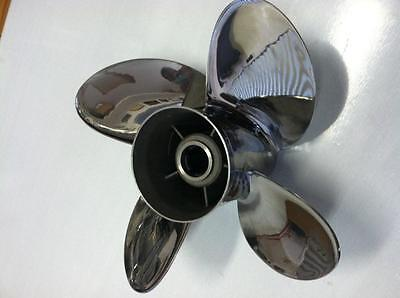 4 Four blade Stainless Steel Propeller Prop 15x17 Yamaha Outboards 150-300hp