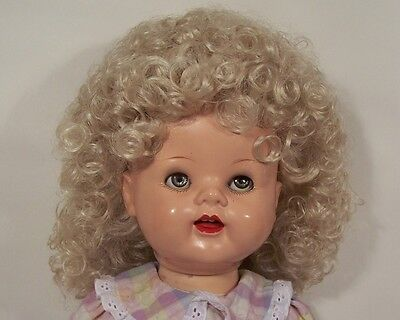 """Debs CARROT Joycee Ponytail Doll WIG Size:14-15 For 22/"""" Saucy Walker Dolls"""