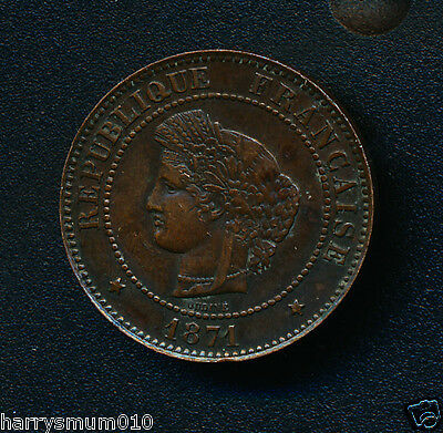 1871 5 centimes France coin