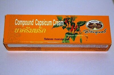 Organic Capsicum Cream - Capsaicin Cream 25g - Heat Cream - Pain Relief