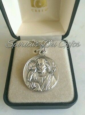St Joseph with Child Jesus Medal Gift Boxed
