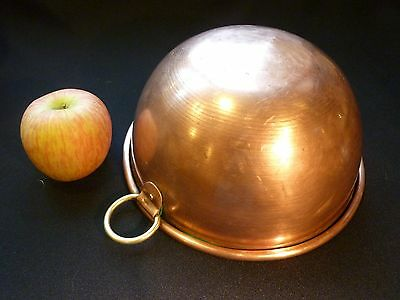 """Vintage Heavy 8.5"""" SOLID COPPER MIXING BOWL Egg White Sugar Fudge Candy Whipping"""