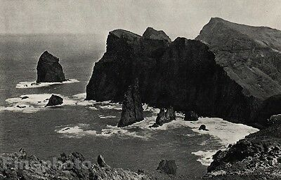 1957/66 Vintage 11x14 CANICAL MADEIRA Seascape Ocean Art By ALVIN LANGDON COBURN