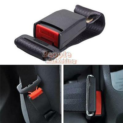 P4PM Car Vehicle Seat Belt Extension Extender Strap Safety Buckle Black New