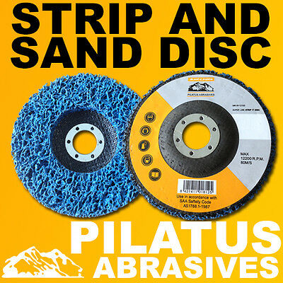 5 x 125MM POLY STRIPPING DISC WHEEL PAINT RUST REMOVAL CLEAN METAL ANGLE GRINDER