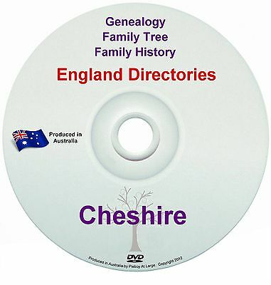 Family History Tree Genealogy Directories Post Office Trades Cheshire New DVD