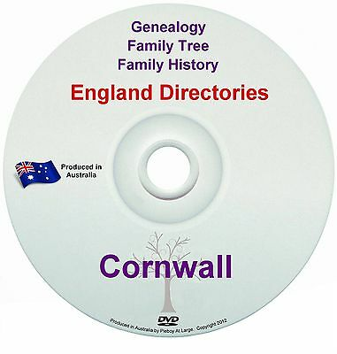 Family History Tree Genealogy Directories Post Office Trades Cornwall New DVD