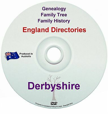 Family History Tree Genealogy Directories Post Office Trades Derbyshire New DVD