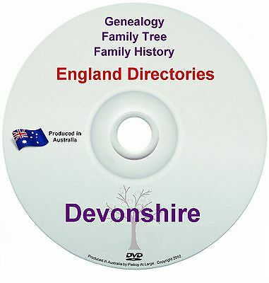 Family History Tree Genealogy Directories Post Office Trades Devonshire New DVD