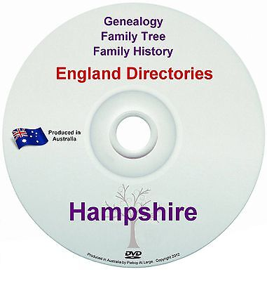 Family History Tree Genealogy Directories Post Office Trades Hampshire New DVD