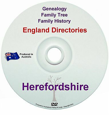 Family History Tree Genealogy Directories Post Office Trades Herefordshire New