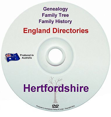 Family History Tree Genealogy Directories Post Office Trades Hertfordshire New