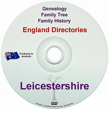 Family History Tree Genealogy Directories Post Office Trades Leicestershire DVD