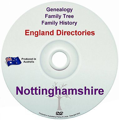 Family History Tree Genealogy Directories Post Office Trades Nottinghamshire DVD