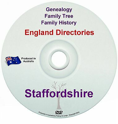 Family History Tree Genealogy Directories Post Office Trades Staffordshire DVD