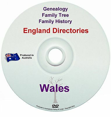 Family History Tree Genealogy Directories Post Office Trades Wales DVD New