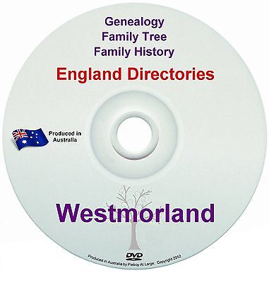 Family History Tree Genealogy Directories Post Office Trades Westmorland DVD New