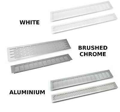 Aluminium, White, Brushed Chrome Vent Grill Kitchen Plinth Worktop Heat