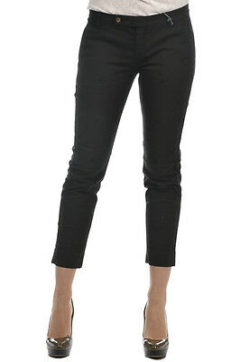 TRUE TRADITION New Woman Capri Black PantsTrouser $ 268 Sz 42 ITA Made in Italy