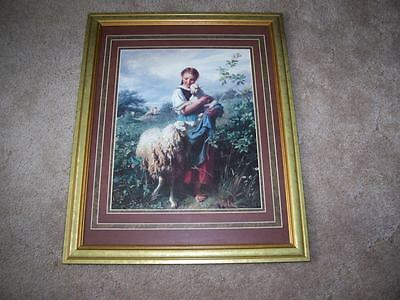 "Discontinued Home Interior Shepherds Daughter Picture 26"" x 32"""