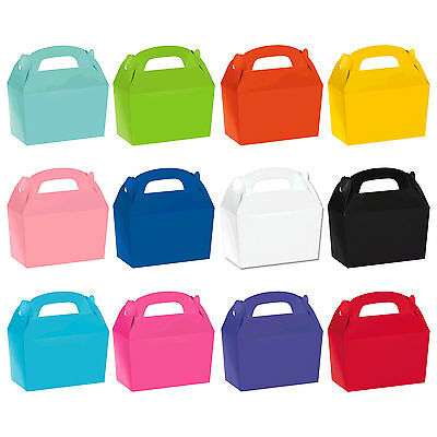 Children's Birthday Party Coloured Paper Food Lunch Loot Gift Gable Boxes