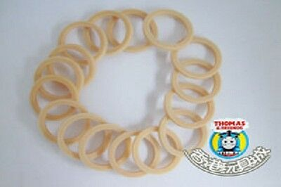 Tomy Trackmaster/thomas Train Spare Rubber Tyres (16 Pcs) For Tomy Train