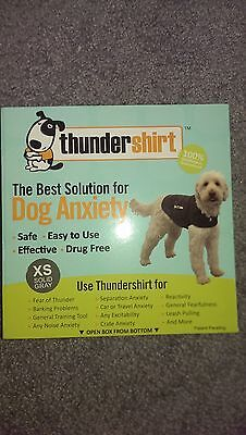 Thundershirt Extra SmallThunder Shirt Anxiety Relief for Dogs Solid Gray NEW!!!