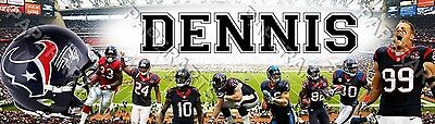 Personalized NFL Houston Texans Name Poster Birthday Banner Customized Printing