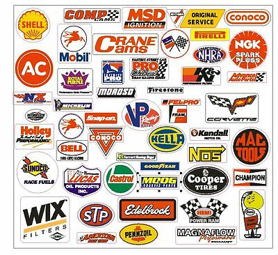 Racing Decals Sticker Set of 76 Grab Bag For Tool Box Locker Garage Mancave