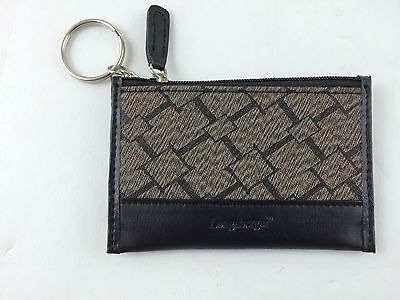 Longaberger Small Coin Purse Key Chain Wallet