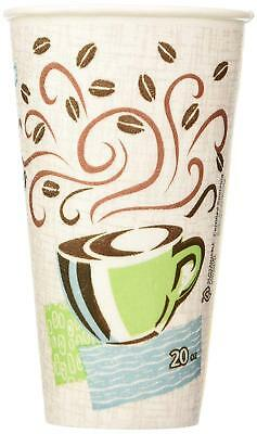 Dixie 20 oz PerfecTouch Insulated Paper Hot Cold Coffee Haze Cup - 100 Cups