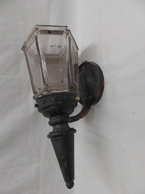 Antique Copper Porch Sconce Thick Heavy Hexagonal Glass Globe Old Light 4518-15