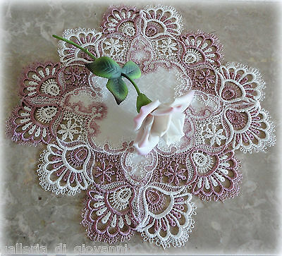 Delicate Trim Misty Lavender Lace  Doily  Estate Design Mother's Day Gift