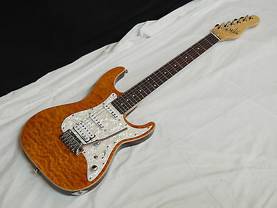 MICHAEL KELLY 1960's series 1965 electric GUITAR Amber NEW - Rockfield Pickups