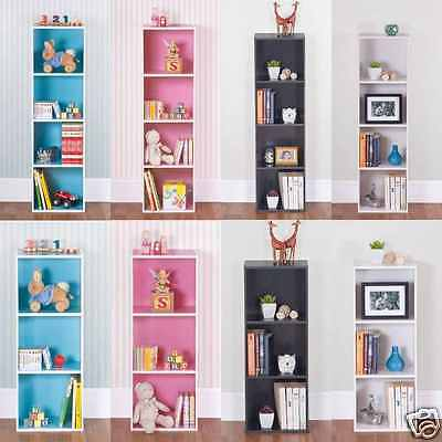 Wooden 1 / 3 / 4 Tiers Bookcase Shelf Free Standing Shelves Storage Display Unit