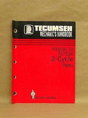 Tecumseh Engines HSK HXL 840-850 TVS TVXL 840 Mechanics Handbook Manual 694988